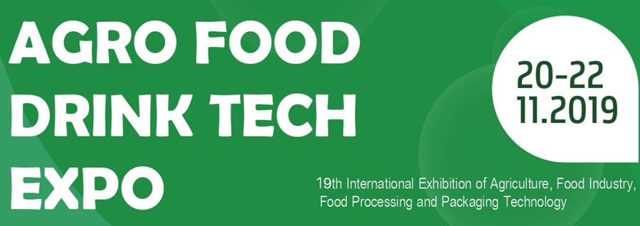 Agro Food Drink Tech Expo 2019 -  20-22 November, 2019.